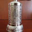 Turkish Salt, Pepper Mill, Spice Grinder (Silver Color)