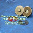 5 Antique Brass Finish 18 mm Magnetic Snap Closures
