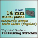 5 Nickel Plated 14 mm Magnetic Snap Closure