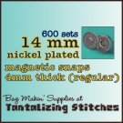 600 Nickel Plated 14 mm Magnetic Snap Closure