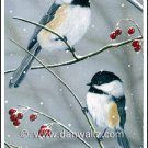 Winter Chickadees Print