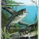 Largemouth Bass Original Painting