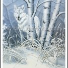 Grey Wolf / Snowshoe Rabbit Print