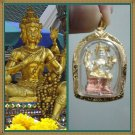 Lord Brahma Amulet Gold Plated Pendant