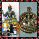 "Rare Thai Amulet Gold Plated Red Enamel Pendant ""Ja-tu-Kram"""