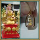 "Wealthy Gold Amulet ""Nang Kwak"" Jewelry Pendant"