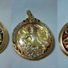 3 Collections of Jatukarm Ramathep Gold Plated Amulets