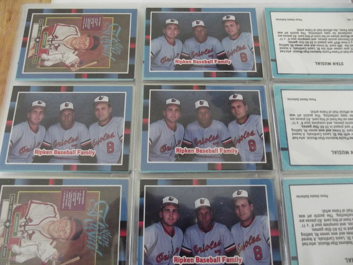 1988 Donruss Ripken Baseball Family Insert Card