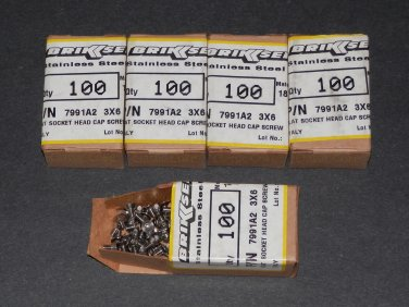 M3 6mm Stainless Steel Flat Head Socket Cap Screw 500 pieces