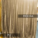 Absolute Zero Velvet Blackout Home Theater Curtain Panel 7W by 9H FT, Mocha