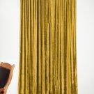 """GOLD - Vintage Blackout 100% Cotton Velvet Lined Curtain Home Theatre Panel-50""""W X 84""""L"""