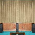 VINTAGE 100% COTTON VELVET BLACKOUT STAGE/THEATRE/STUDIO CURTAIN- MOCHA 7FT W X 9FT H