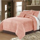 Full/Queen 100% Velvet-Egytian Cotton Reversible CARNATION  Duvet Quilt Cover Set 3pc