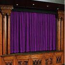 Vintage Style Pole Pocket Berry 100% cotton Velvet curtain Theater/Stage Panel - 12Wx9H FT