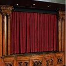Vintage Style Pole Pocket Burgundy 100% cotton Velvet curtain Theater/Stage Panel - 12Wx9H FT