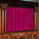 Vintage Style Pole Pocket Fuschia 100% cotton Velvet curtain Theater/Stage Panel - 12Wx9H FT
