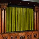 Vintage Style Pole Pocket Lemon Grass 100% cotton Velvet curtain Theater/Stage Panel - 12Wx9H FT