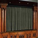 Vintage Style Pole Pocket Stone 100% cotton Velvet curtain Theater/Stage Panel - 12Wx9H FT