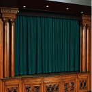 Vintage Style Pole Pocket Teal 100% cotton Velvet curtain Theater/Stage Panel - 12Wx9H FT