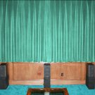 New Aqua 100% Blackout Home Theater Velvet Lined Curtain 90 by 90 Inches