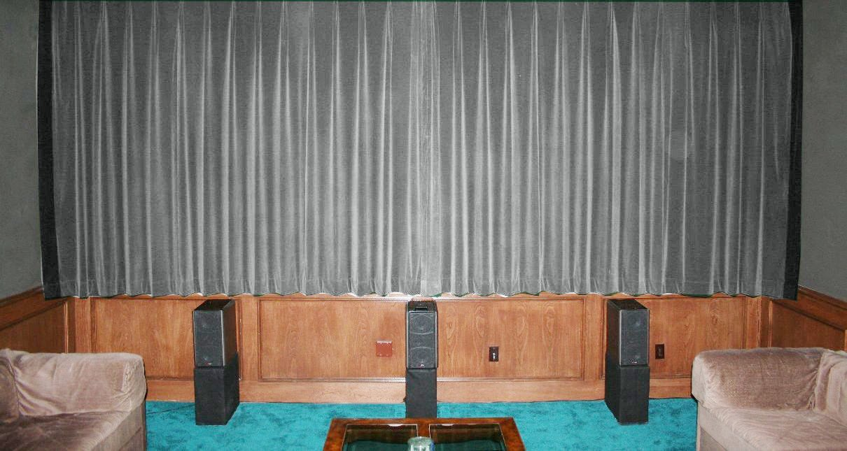 New Silver 100% Blackout Home Theater Velvet Lined Curtain 90 by 90 Inches