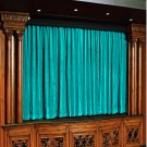 Vintage Style Pole Pocket Aqua 100% cotton Velvet curtain Theater/Stage Panel - 20Wx10H FT