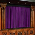 Vintage Style Pole Pocket Berry 100% cotton Velvet curtain Theater/Stage Panel - 20Wx10H FT