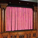 Vintage Style Pole Pocket carnation 100% cotton Velvet curtain Theater/Stage Panel - 20Wx10H FT
