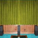 VINTAGE COTTON VELVET BLACKOUT WINDOW/DOOR LINED CURTAIN- LEMON GRASS 66''W X 54''H