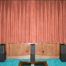 CARNATION-VINTAGE COTTON VELVET BLACKOUT WINDOW/DOOR LINED CURTAIN,66''W X 90''H