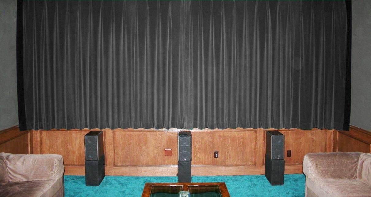 STONE-VINTAGE COTTON VELVET BLACKOUT WINDOW/DOOR LINED CURTAIN,66''W X 90''H