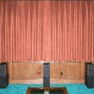 CARNATION-VINTAGE COTTON VELVET BLACKOUT WINDOW/DOOR LINED CURTAIN,90''W X 54''H
