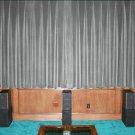 "SILVER-VINTAGE COTTON VELVET BLACKOUT WINDOW/DOOR LINED CURTAIN,90''W X 72""H"