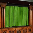 Vintage Style Pole Pocket Sage Green 100% cotton Velvet curtain Theater/Stage Panel - 12Wx9H FT