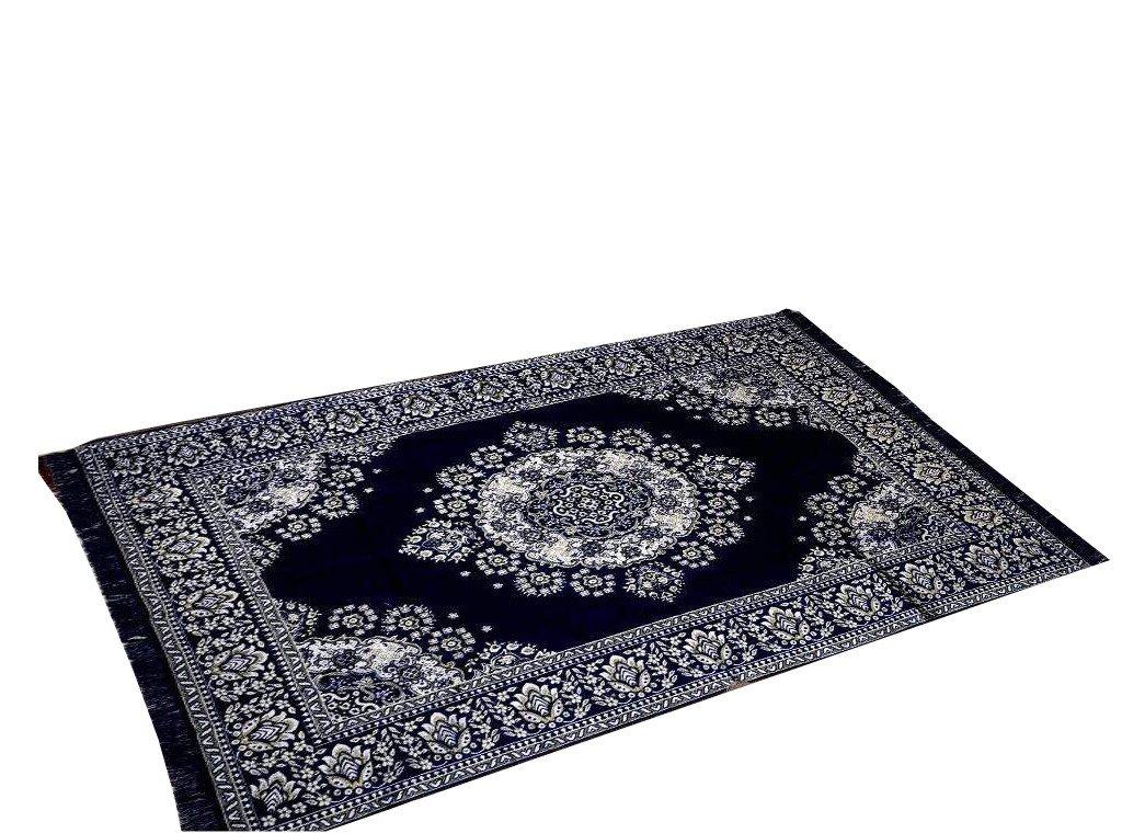 Medallion Persian Style Chenille Carpet Oriental Area 5'X7' Rug Mat,Navy Blue