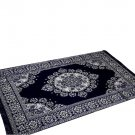 Medallion Persian Style Chenille Carpet Oriental Area 5'X7' Rug Mat,Navy Blue
