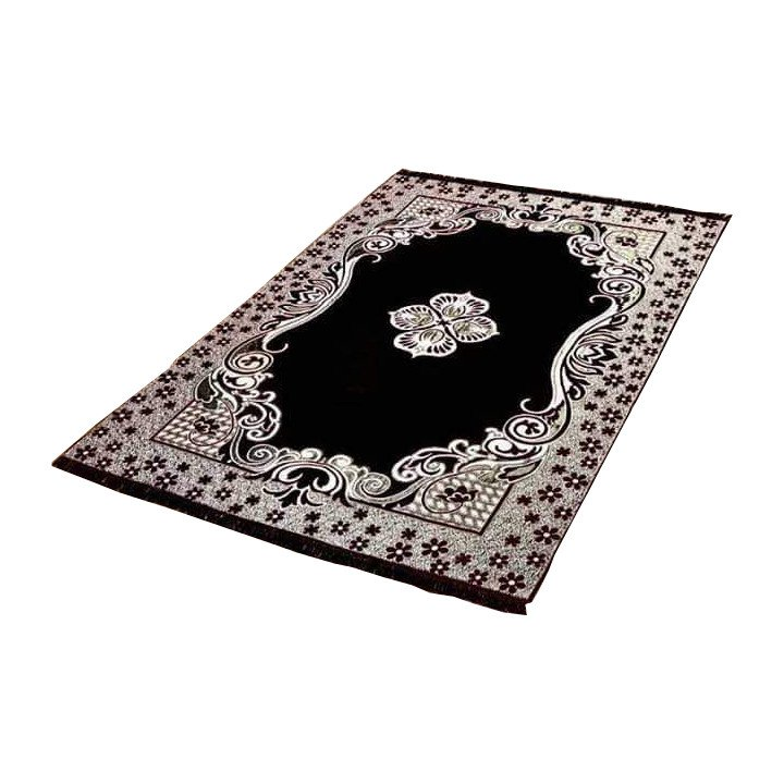 Black Area Rugs Carpet Flooring Persian Area Oriental Floor Decor 5X7 Medallion