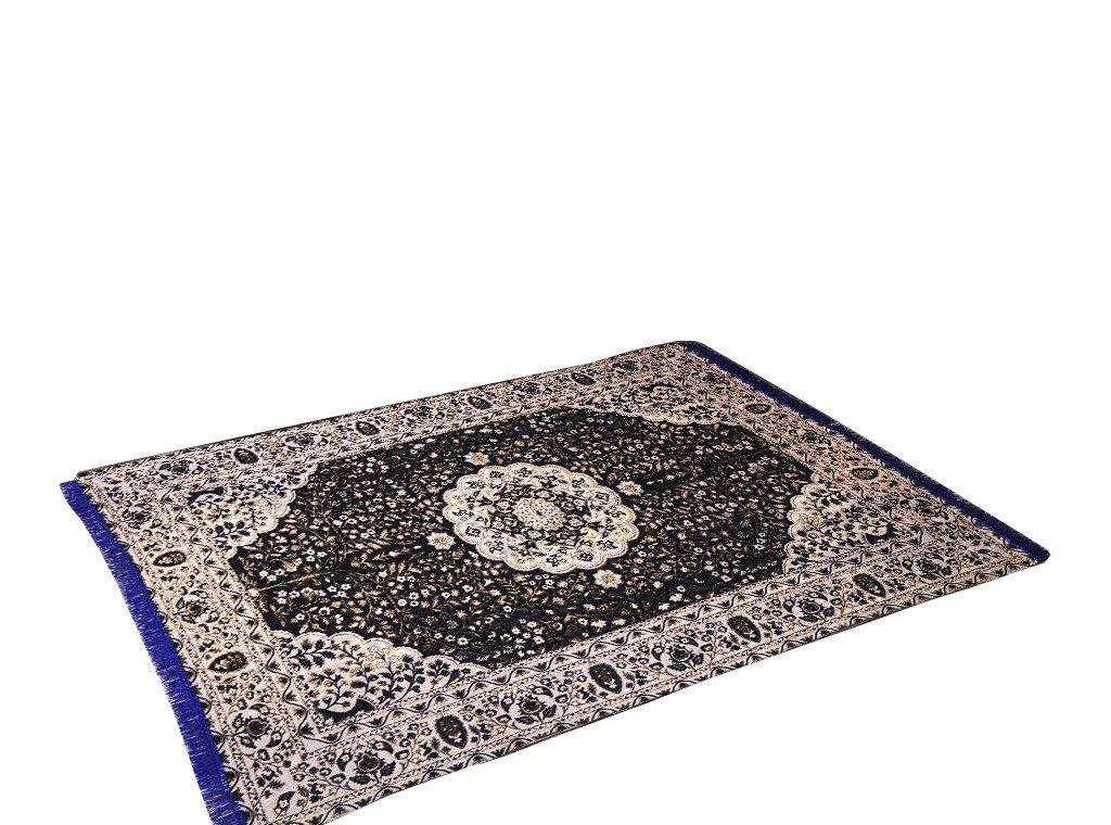 Traditional Medallion Persian/Oriental Area Chenille Carpet 5'X7' Rug Mat,Black