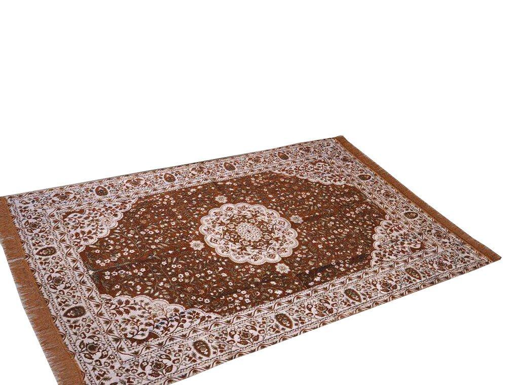 Traditional Medallion Persian/Oriental Area Chenille Carpet 5'X7' Rug Mat,Salmon
