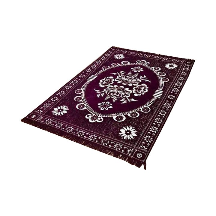 Floral Persian Style Chenille Carpet Oriental Area 5'X7' Rug Mat,Wine