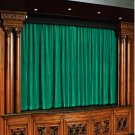 Vintage Style Pole Pocket PEACOCK GREEN 100% cotton Velvet curtain Theater/Stage Panel - 20Wx10H FT