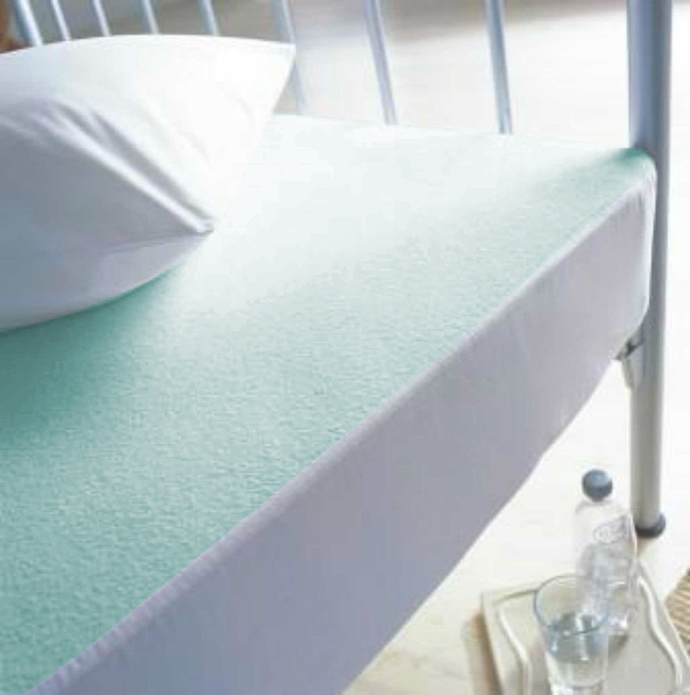 """Aqua Terry Towel 12"""" Fitted Mattress Protector Waterproof,Dust-Proof Cover-Twin"""