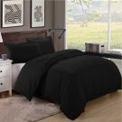 King/Cal King Size 600TC 100% Egyptian Cotton ultra soft Duvet Cover 3pcs Set ,Black