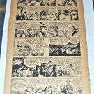 Joe Kubert Tear Sheet from the Chicago Tribune and used in Tales of the Green Beret #1 1966