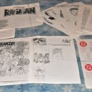 Original Art Joe Kubert Pencil Roughs for Ragman Cry #1 and #2 cover SIGNED by Joe Kubert