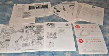 Original Art Joe Kubert Pencils and Contracts for Ragman Cry #1 and #2 cover SIGNED by Joe Kubert