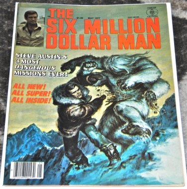 Six Million Dollar Man #5 1977 (Magazine/ Paperback) in VG/ FN Condition