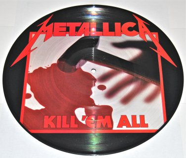 """Metallica: Kill 'Em All LIMITED EDITION 1983 1rst Edition Picture 12"""" LP"""