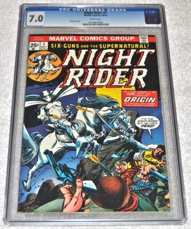 Night Rider #1 1974 Series CGC'd 7.0 Very Fine Condition