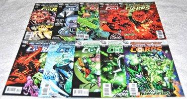 Green Lantern Corps (2006 Series) Ten Issue Lot
